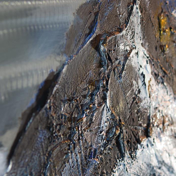 Tablou  MOUNTAIN, panza/aluminiu, 150x100x4 cm 4