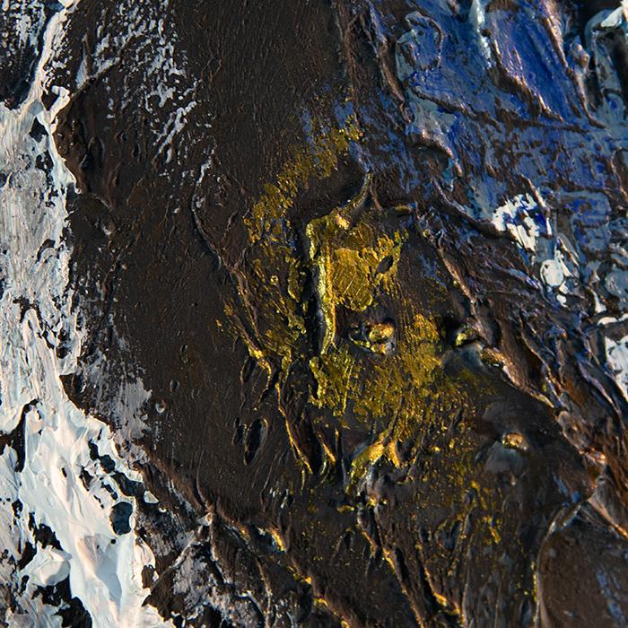 Tablou  MOUNTAIN, panza/aluminiu, 150x100x4 cm 3