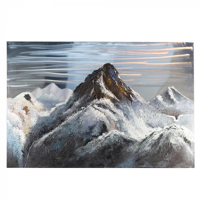 Tablou  MOUNTAIN, panza/aluminiu, 150x100x4 cm 0