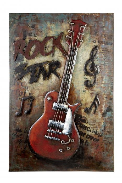 Tablou ROCK, metal, 50x4x75 cm [0]