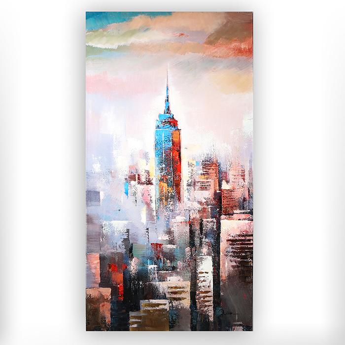 Tablou SKYLINE, panza, 140x70x3.5 cm 0