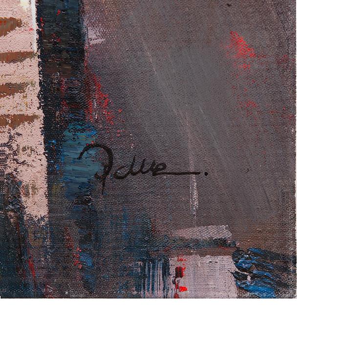 Tablou SKYLINE, panza, 140x70x3.5 cm 1