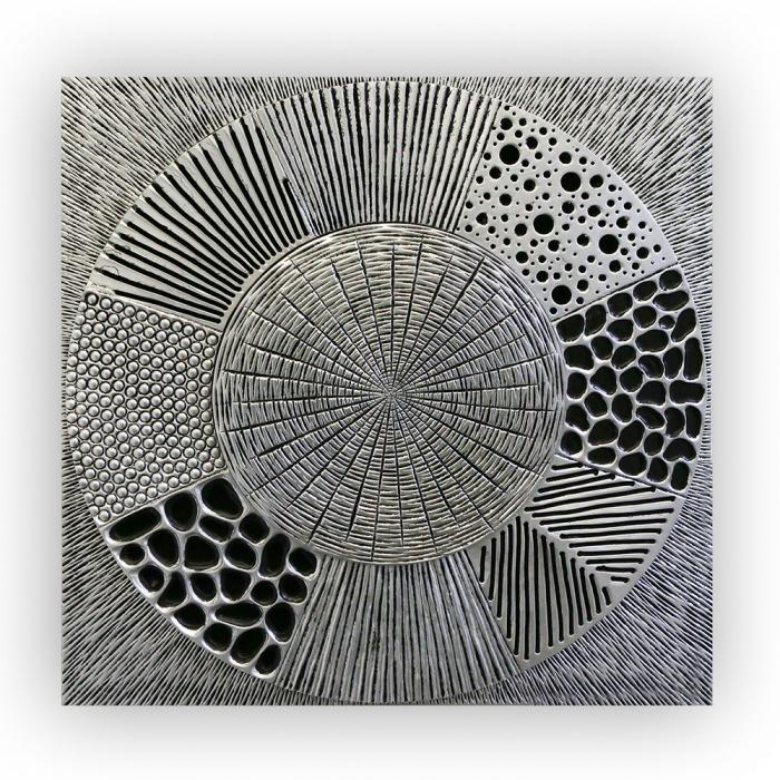 Tablou MYSTERIOUS, lemn, 80x4x80 cm 0