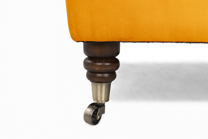 Taburet  Chesterfield, Galben, 70x32x70 cm 3