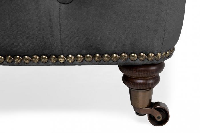 Taburet  Chesterfield, Gri, 75x45x70 cm 2