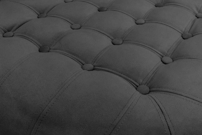 Taburet  Chesterfield, Gri, 80x32x80 cm 3