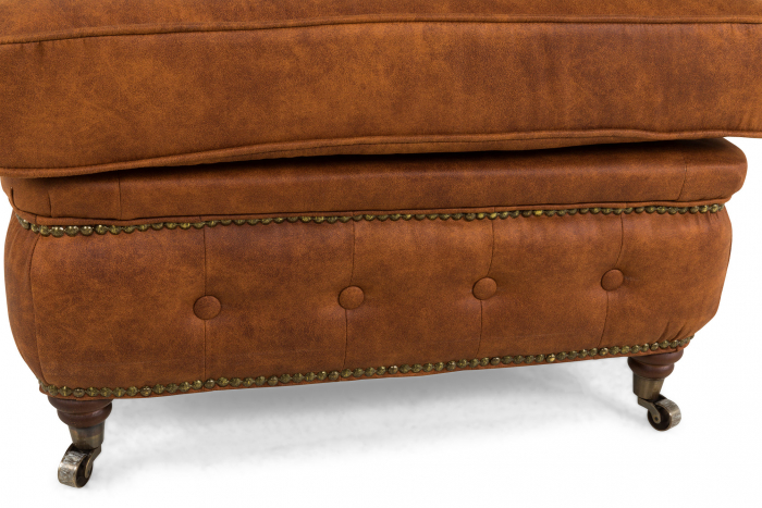 Taburet  Chesterfield, Maro coniac , 75x45x70 cm 5