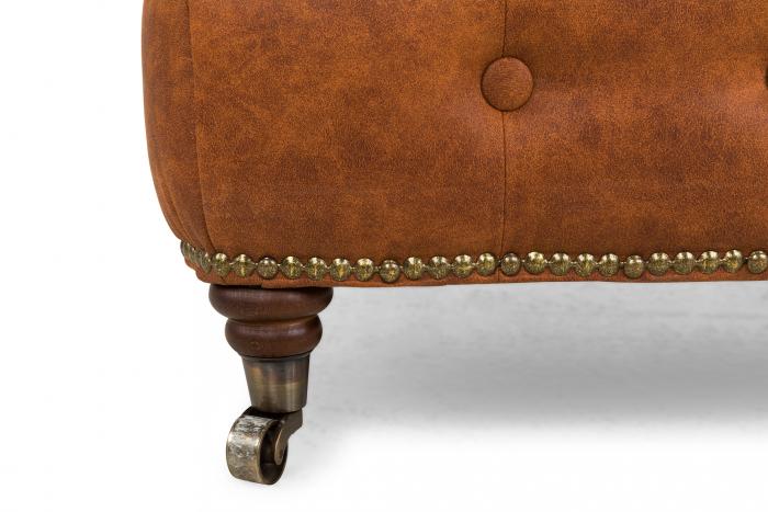 Taburet  Chesterfield, Maro coniac , 75x45x70 cm 3