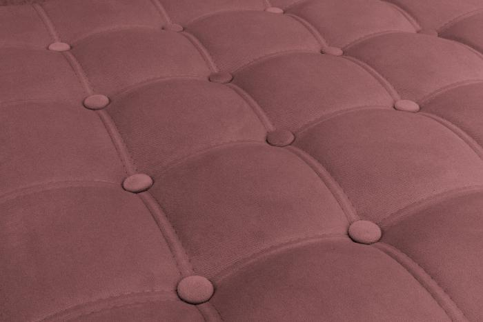 Taburet  Chesterfield, Roz inchis, 70x32x70 cm 3