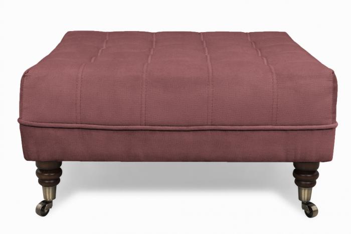 Taburet  Chesterfield, Roz inchis, 70x32x70 cm 1