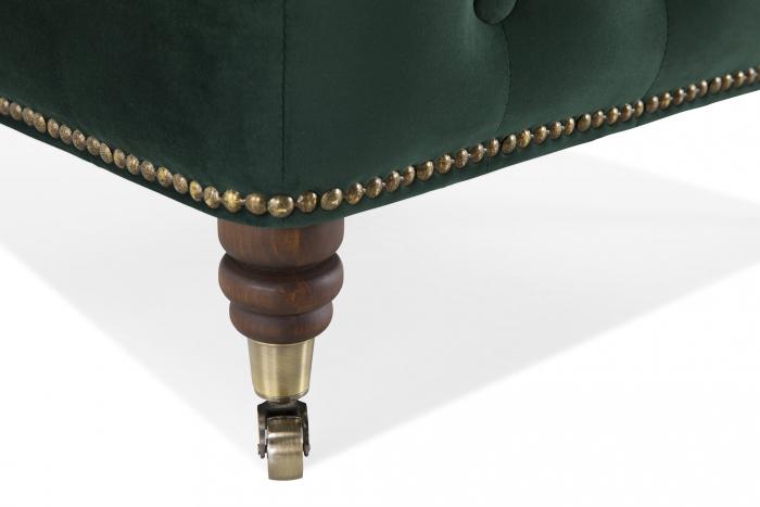 Taburet  Chesterfield, Verde inchis, 75x45x70 cm 4