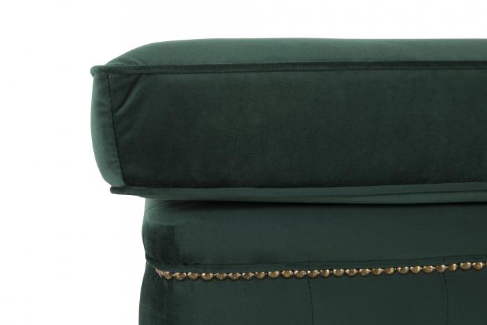 Taburet  Chesterfield, Verde inchis, 75x45x70 cm 2