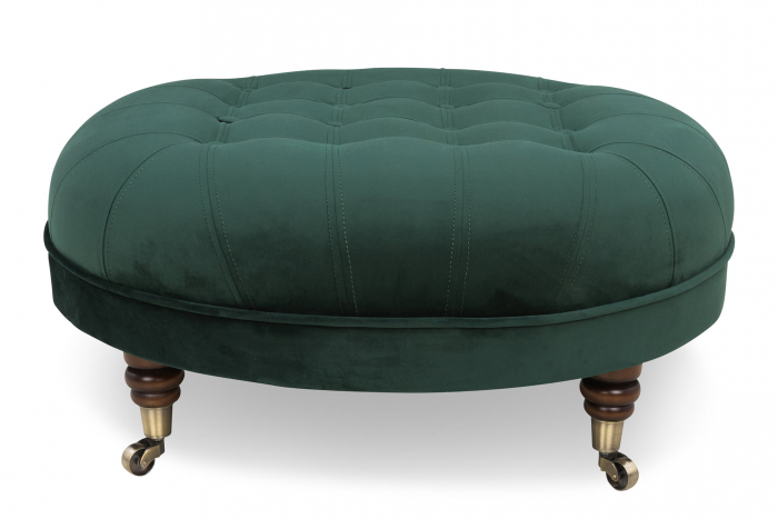 Taburet  Chesterfield, Verde inchis, 80x32x80 cm 2