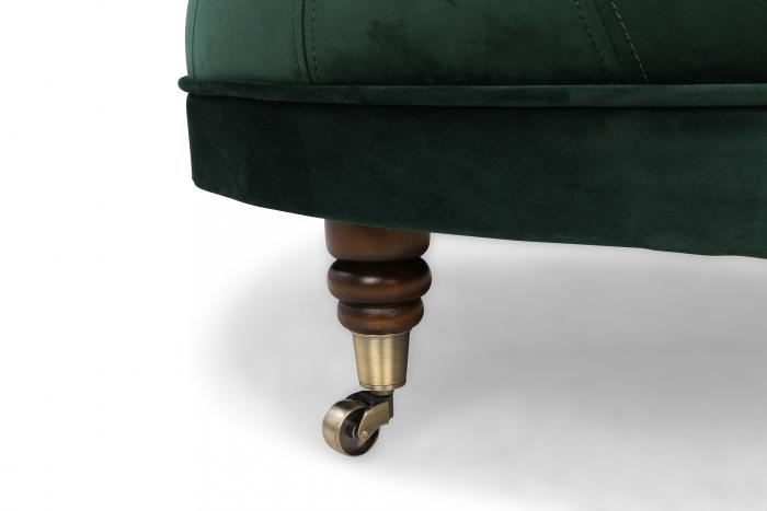 Taburet  Chesterfield, Verde inchis, 80x32x80 cm 4
