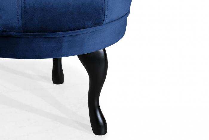Taburet  Diana, Albastru, 50x44x44 cm 4
