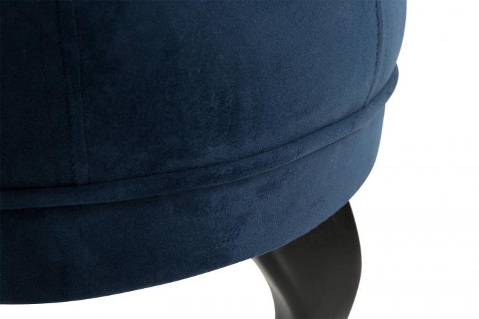 Taburet  Diana, Albastru petrol, 50x44x44 cm 3