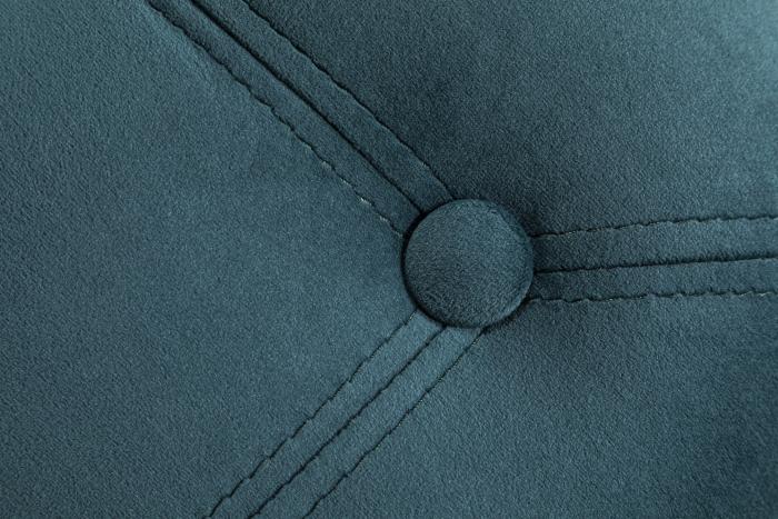 Taburet  Diana, Albastru verzui, 50x44x44 cm 3