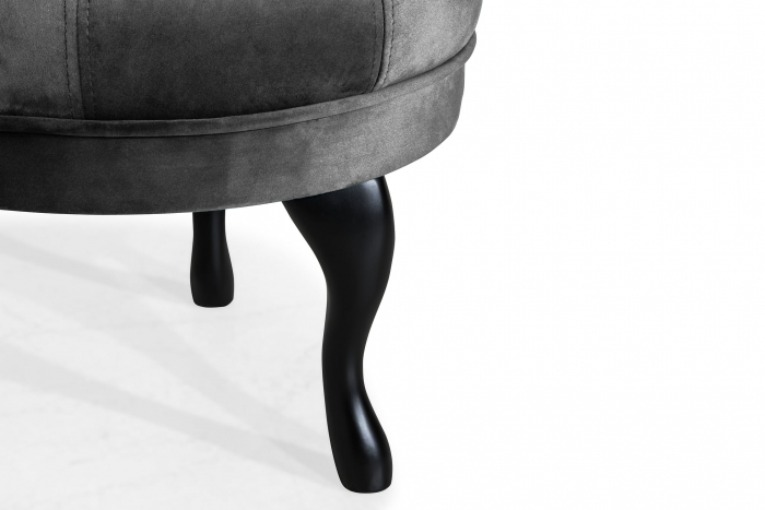 Taburet  Diana, Gri inchis, 50x44x44 cm 4