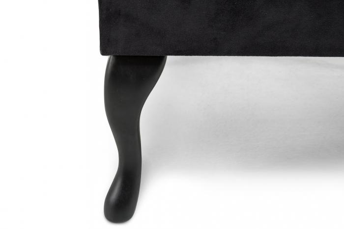 Taburet  Diana, Negru, 70x44x70 cm 2
