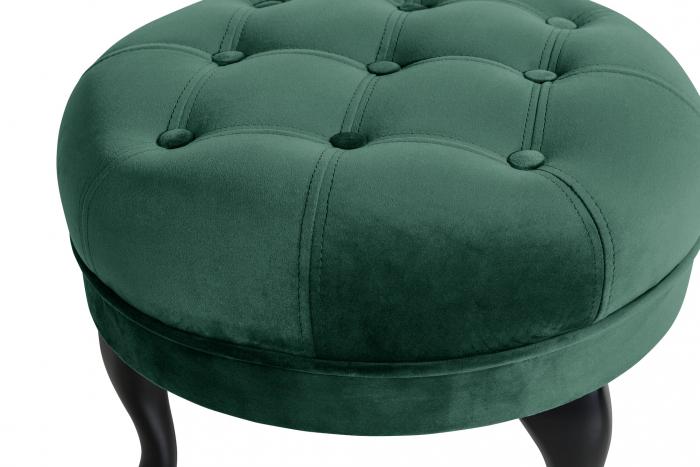 Taburet  Diana, Verde inchis, 50x44x44 cm 2