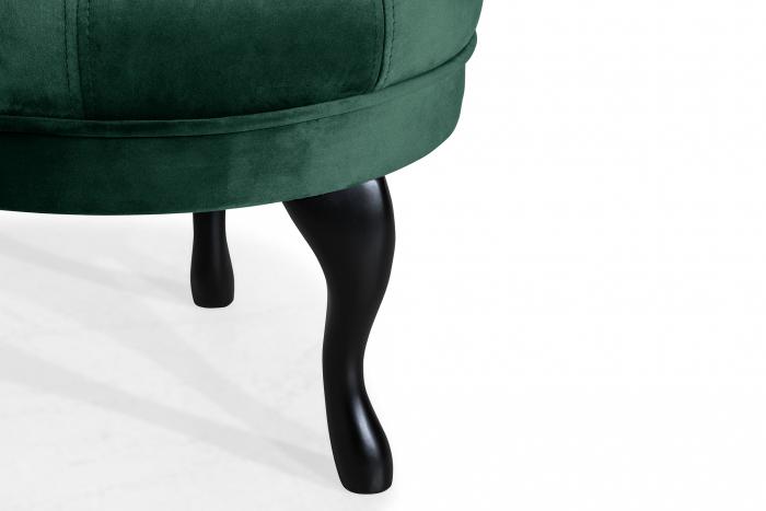 Taburet  Diana, Verde inchis, 50x44x44 cm 4