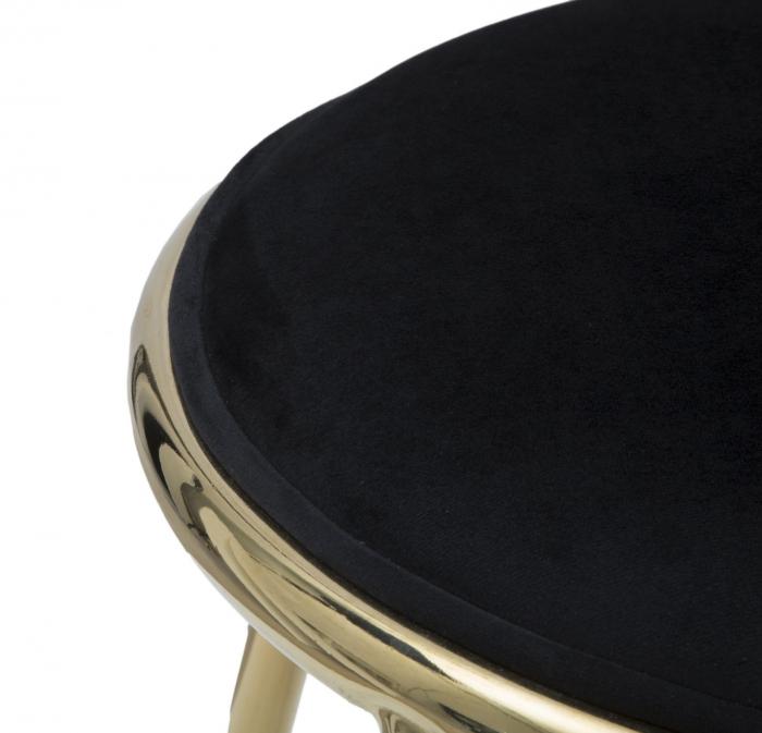 Taburet EMILY, negru, 45X45 cm, Mauro Ferretti 6