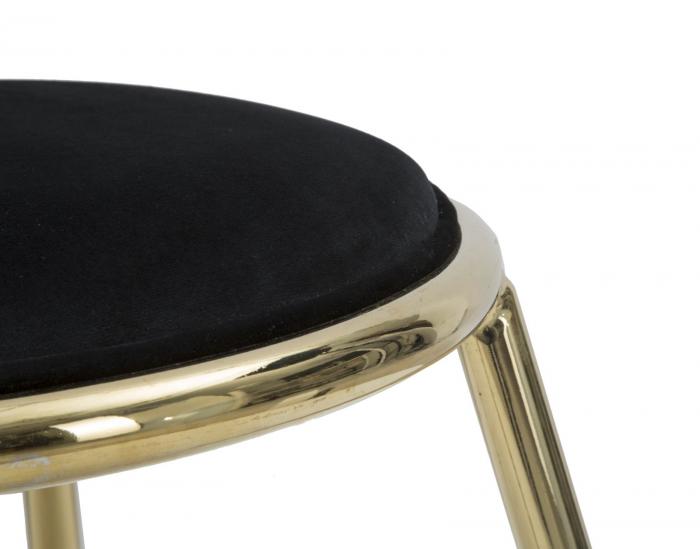 Taburet EMILY, negru, 45X45 cm, Mauro Ferretti 5