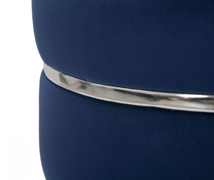 Taburet PARIS albastru/argintiu (cm) Ø 35X40,5 2