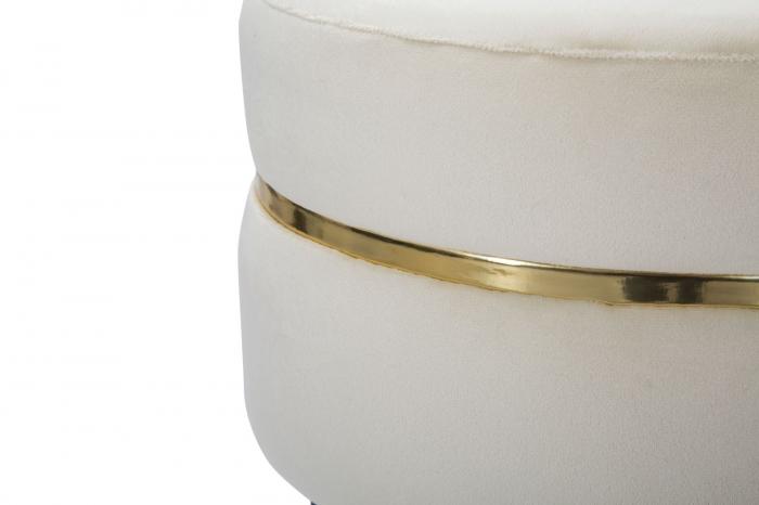 Taburet PARIS crem/auriu (cm) Ø 35X40,5 3