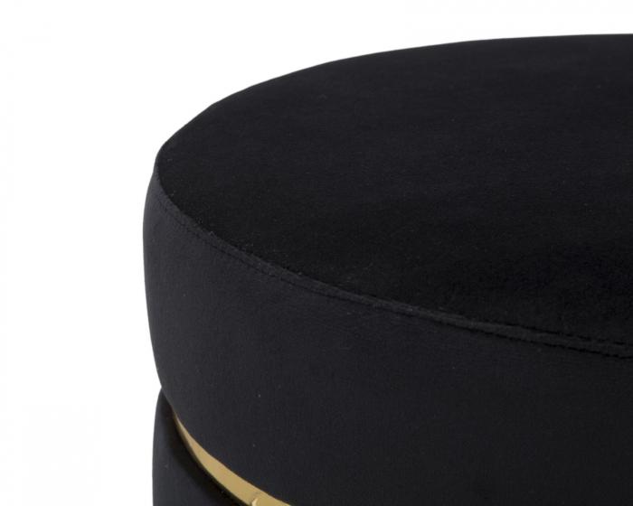Taburet PARIS, negru, 35X40.5 cm, Mauro Ferretti 4
