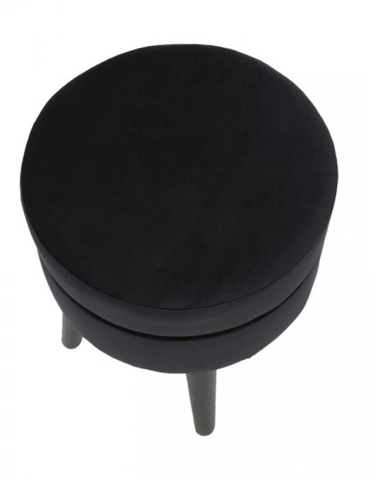 Taburet PARIS, negru, 35X40.5 cm, Mauro Ferretti 5