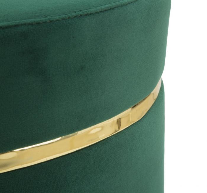 Taburet PARIS, verde, 35X40.5 cm, Mauro Ferretti 4