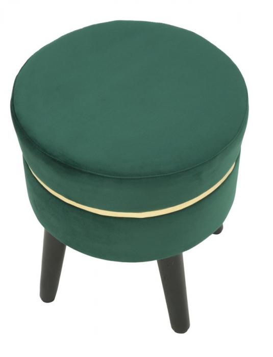 Taburet PARIS, verde, 35X40.5 cm, Mauro Ferretti 3