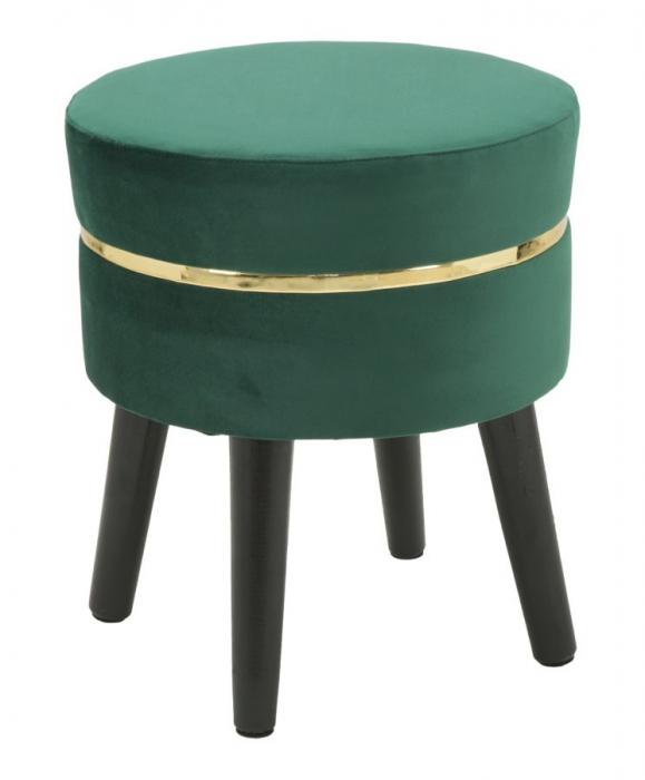 Taburet PARIS, verde, 35X40.5 cm, Mauro Ferretti 0