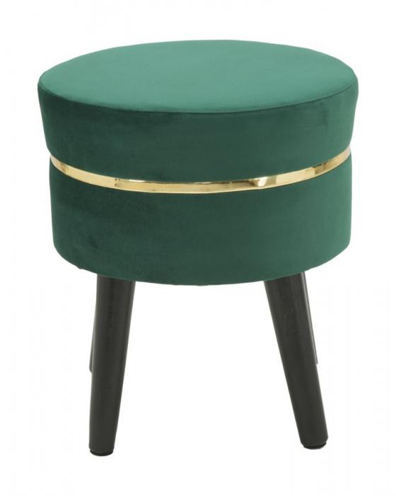 Taburet PARIS, verde, 35X40.5 cm, Mauro Ferretti 1