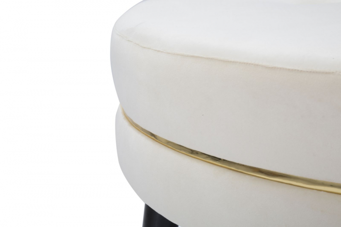 Taburet Paris XXL, lemn de pin/metal/plastic/burete/poliester, multicolor, 90X46 cm 5