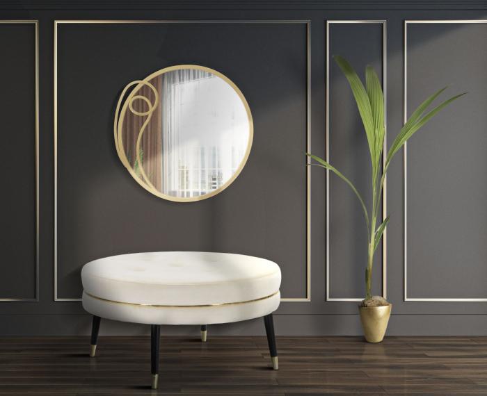 Taburet Paris XXL, lemn de pin/metal/plastic/burete/poliester, multicolor, 90X46 cm 0