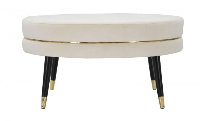Taburet Paris XXL, lemn de pin/metal/plastic/burete/poliester, multicolor, 90X46 cm 2