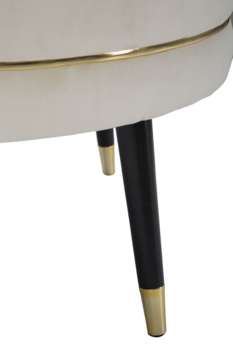 Taburet Paris XXL, lemn de pin/metal/plastic/burete/poliester, multicolor, 90X46 cm 6