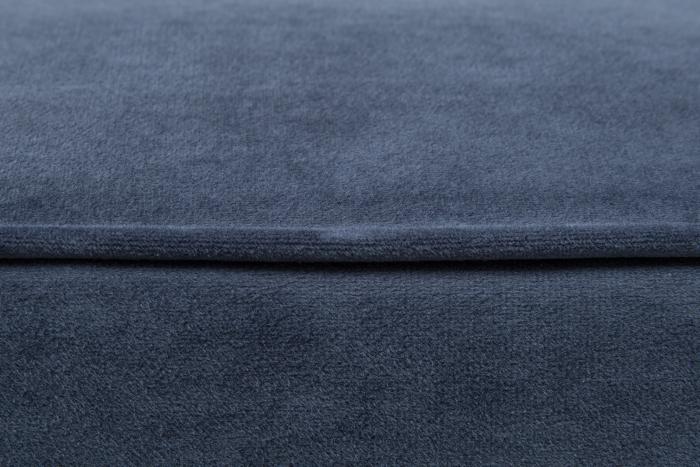 Taburet pentru picioare Veneta, Albastru petrol, 55x40x45 cm 3