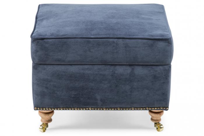 Taburet pentru picioare Veneta, Albastru petrol, 55x40x45 cm 1
