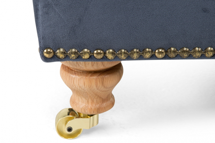 Taburet pentru picioare Veneta, Albastru petrol, 55x40x45 cm 2