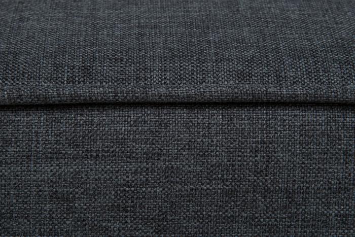Taburet pentru picioare Veneta, Gri inchis, 55x40x45 cm 3