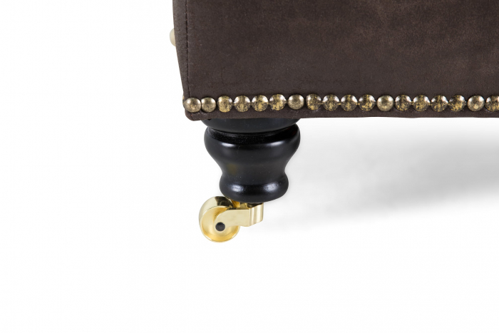 Taburet pentru picioare Veneta, Maro, 55x40x45 cm 2