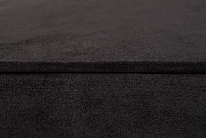 Taburet pentru picioare Veneta, Negru, 55x40x45 cm 3