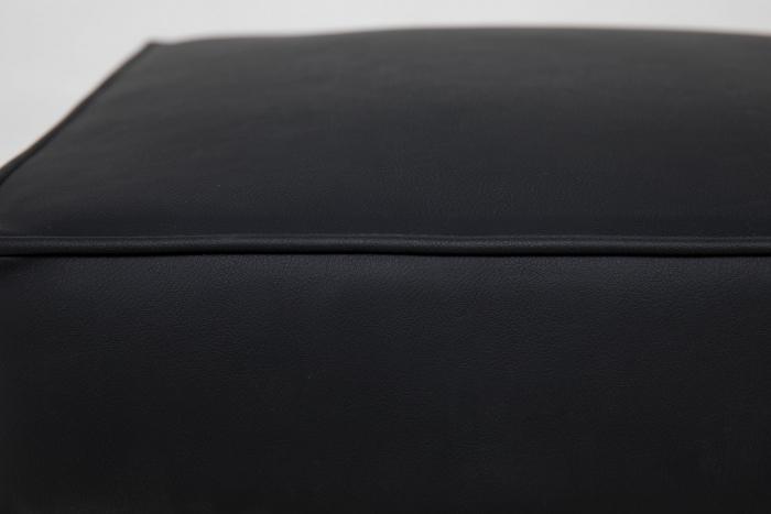 Taburet pentru picioare Veneta, Negru, 55x40x45 cm 4