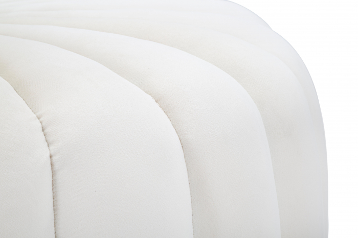 Taburet Shell, lemn de pin/metal/plastic/poliester, crem,  80X54X42 cm 6
