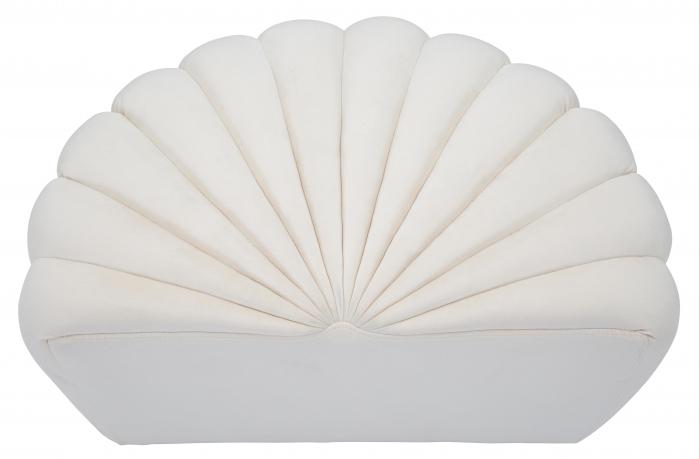 Taburet Shell, lemn de pin/metal/plastic/poliester, crem,  80X54X42 cm 5