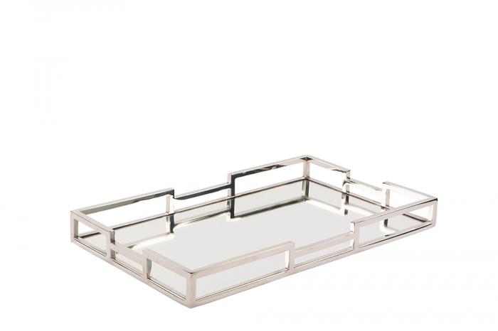 Tava cu oglinda HOMMAGE, otel inoxidabil, 50 x 5 x 30 cm imagine 2021 lotusland.ro