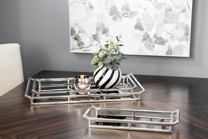Tava Piano, Sticla Otel inoxidabil, Negru Argintiu, 15x5x40 cm 2021 lotusland.ro